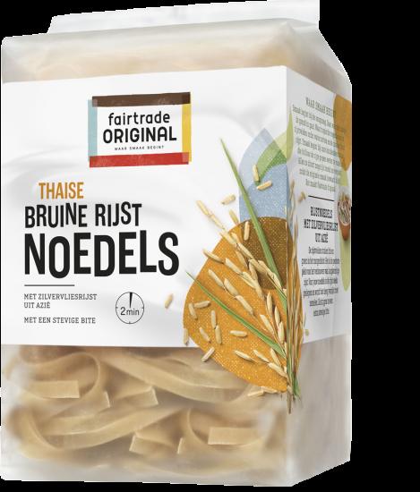 Bruine rijstnoedels met zilvervliesrijst