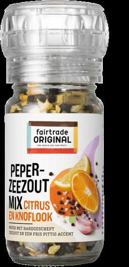 Peper- zeezoutmix citrus en knoflook