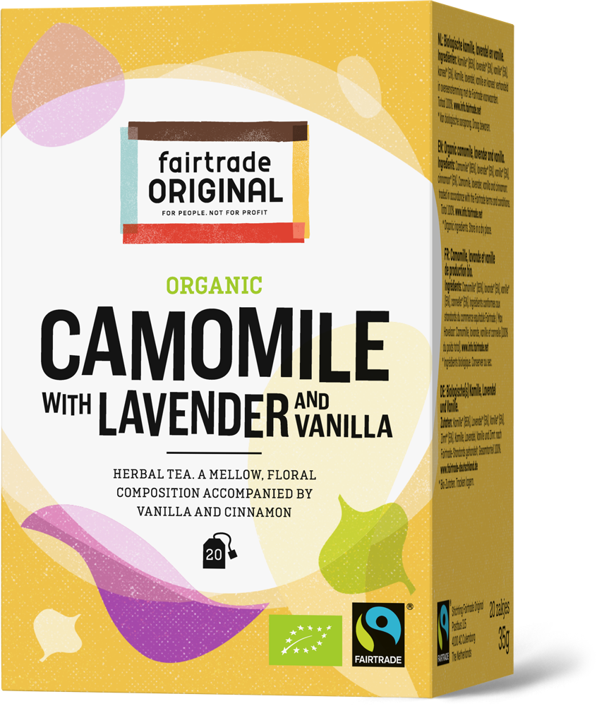 Organic camomile with lavender and vanilla