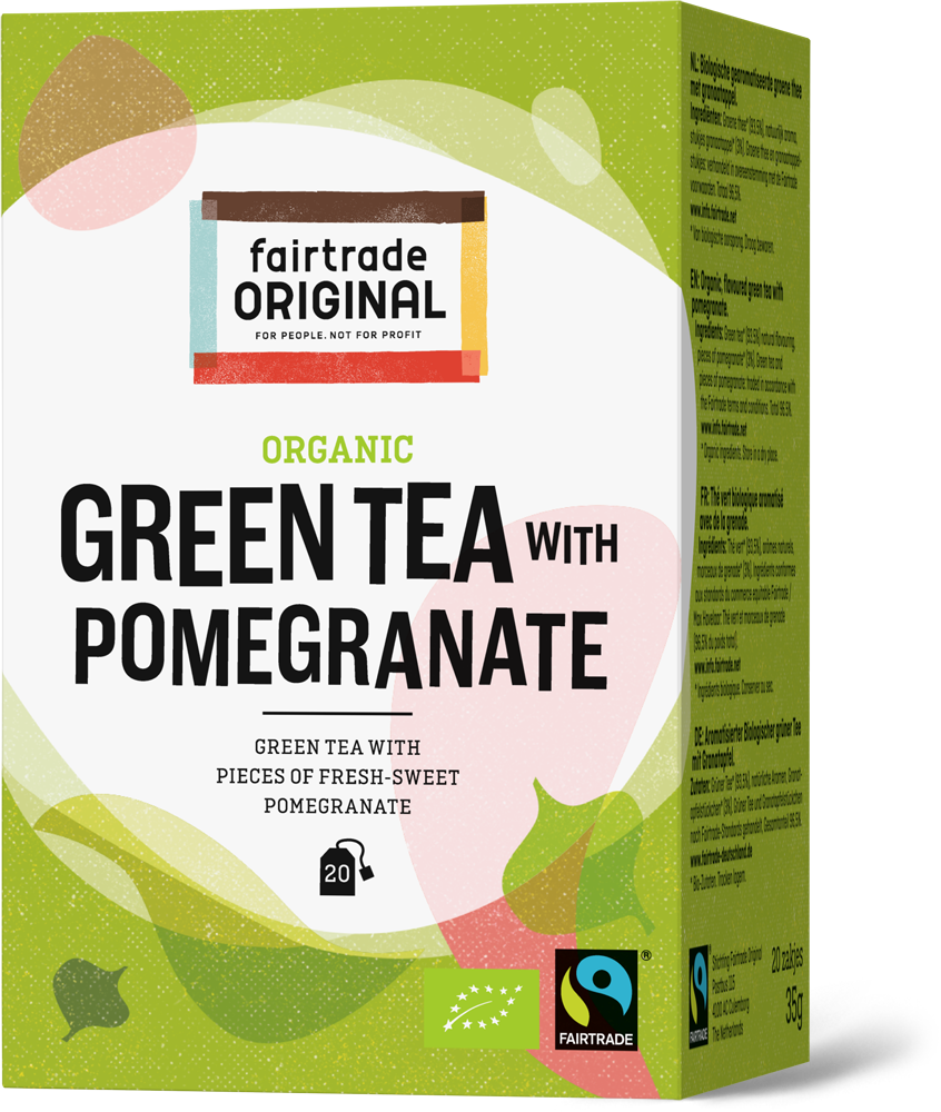 Organic green tea with pomegranate