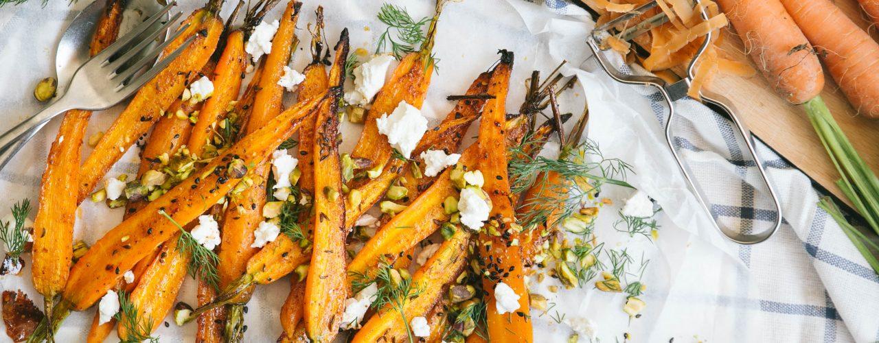 Salade van geroosterde wortel
