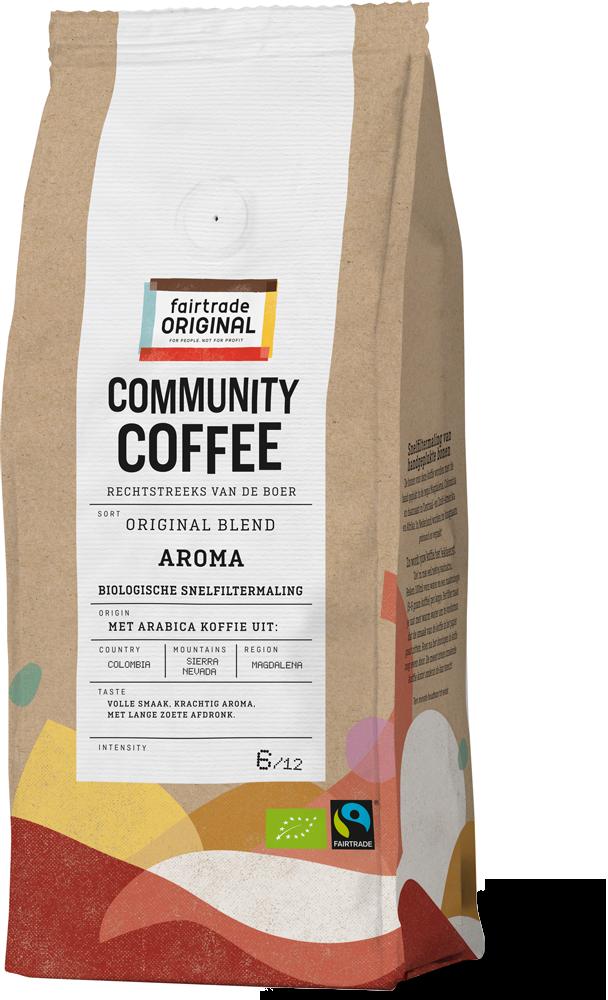 Community Coffee Aroma snelfiltermaling