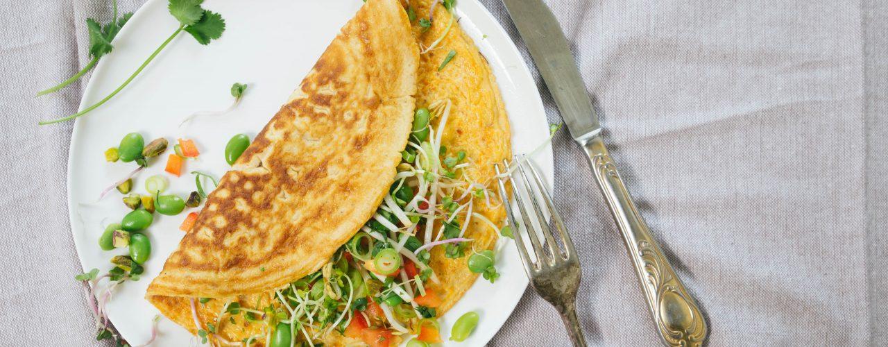 Oosterse omelet met Sambal Badjak