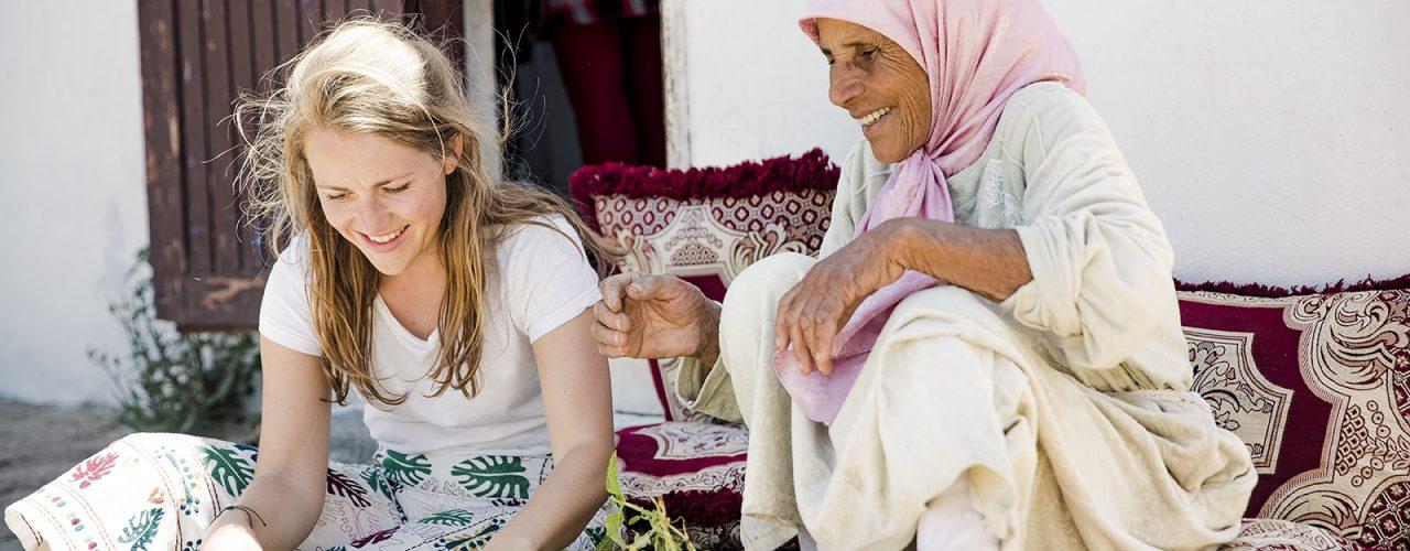 Fairtrade Orginal collega Lotje leert over de Arabische keuken in Rabat