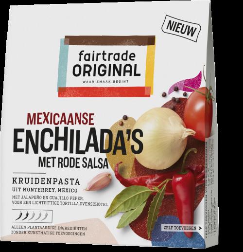 Mexicaanse Enchilada's met rode salsa