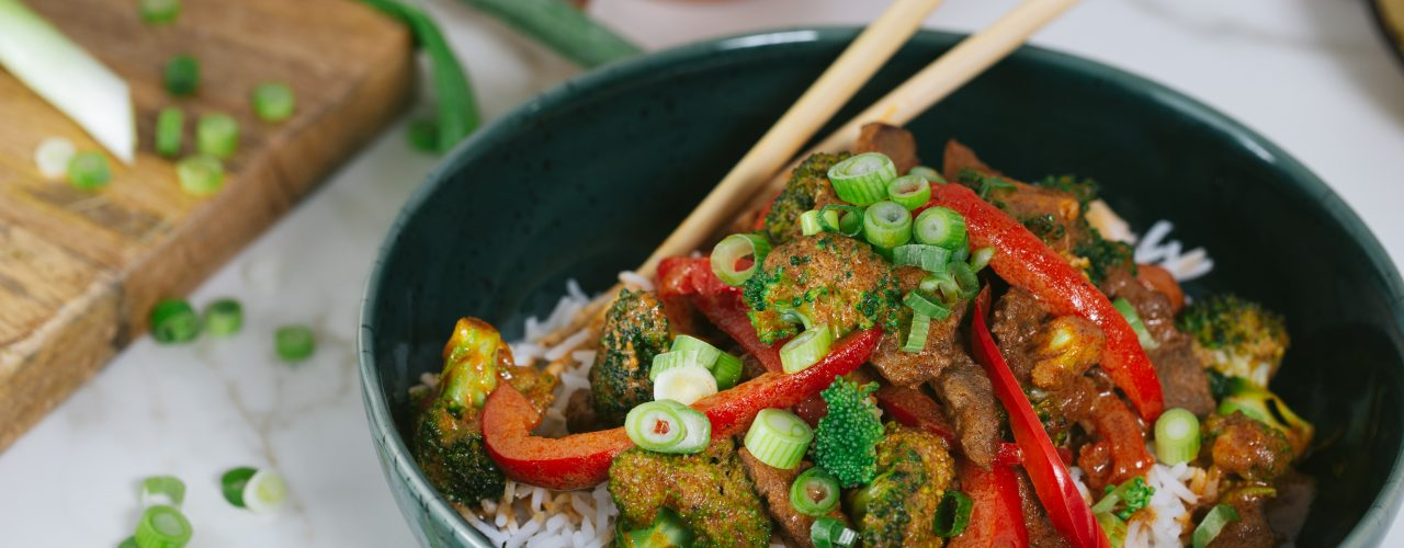 Snelle Thaise Rode Curry met runderreepjes