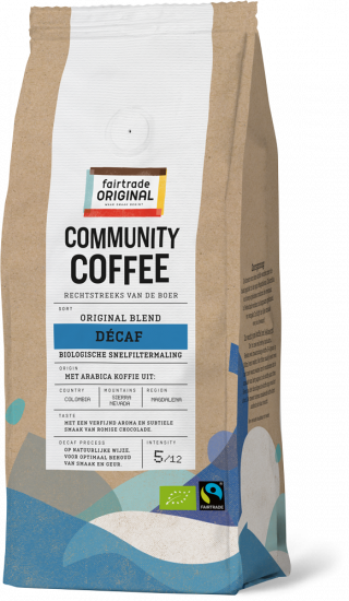 Community Coffee Décaf snelfiltermaling