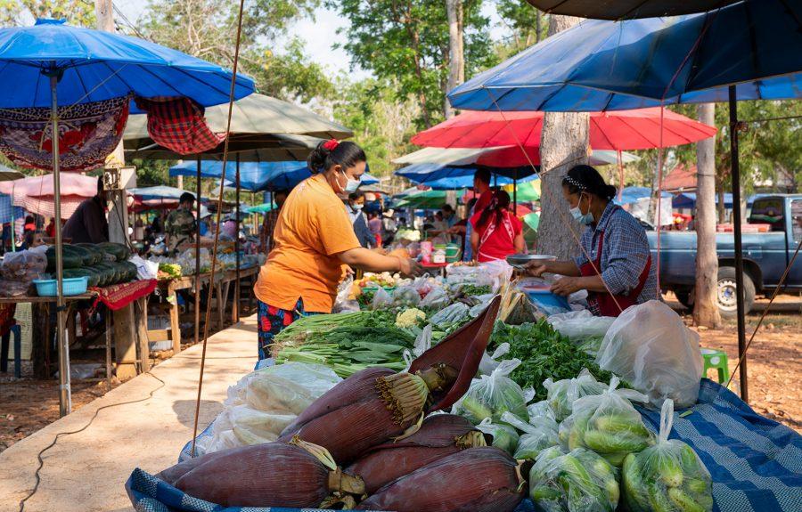 Bananenbloesem, vrouw op markt - Fairtrade Original